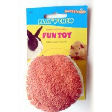 PLAY & CHEW LOOFAH BALL FOR RABBITS AND GUINEA PIGS
